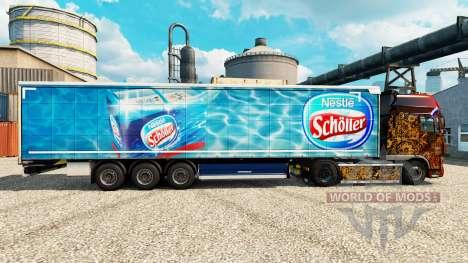 Скин Nestle Scholler на полуприцепы для Euro Truck Simulator 2