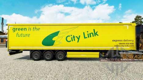 Скин City Link на шторный полуприцеп для Euro Truck Simulator 2