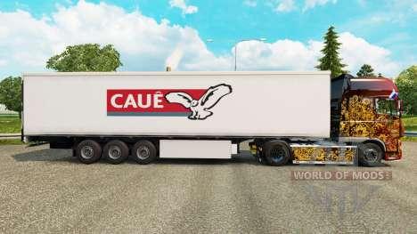 Скин Caue на полуприцепы для Euro Truck Simulator 2