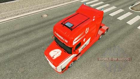 Скин S. Verbeek & ZN. на тягач Scania T для Euro Truck Simulator 2
