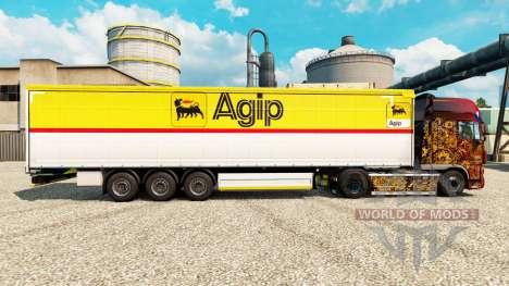 Скин Agip на полуприцепы для Euro Truck Simulator 2