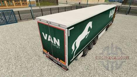 Скин Van Cargo на шторный полуприцеп для Euro Truck Simulator 2