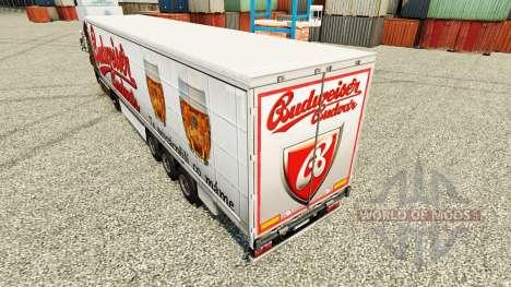 Скин Budweiser на полуприцепы для Euro Truck Simulator 2