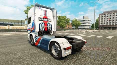 Скин Martini Rancing на тягач Scania для Euro Truck Simulator 2
