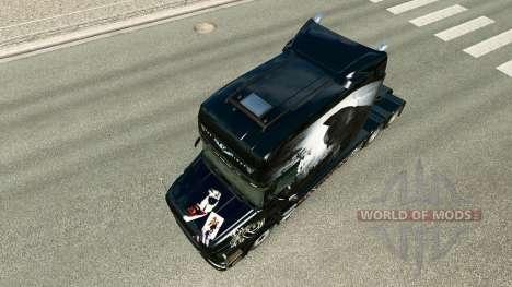 Скин Batman на тягач Scania T для Euro Truck Simulator 2