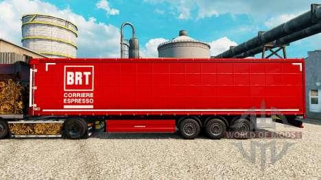 Скин BRT на полуприцепы для Euro Truck Simulator 2