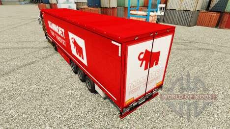 Скин Mammoet на полуприцепы для Euro Truck Simulator 2