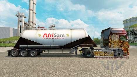Скин AfriSam на цементный полуприцеп для Euro Truck Simulator 2