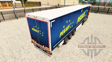 Скин Pekaes на шторный полуприцеп для Euro Truck Simulator 2