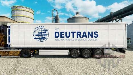 Скин Deutrans на полуприцепы для Euro Truck Simulator 2