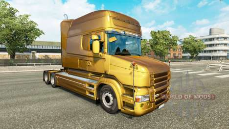 Скин Metallic на тягач Scania T для Euro Truck Simulator 2