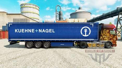 Скин Kuehne Nagel на полуприцепы для Euro Truck Simulator 2