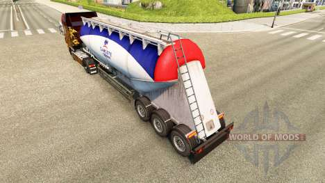 Скин Dangote Cement на цементный полуприцеп для Euro Truck Simulator 2