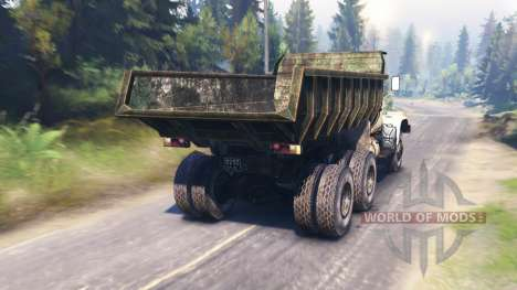КрАЗ-256 v1.1 для Spin Tires
