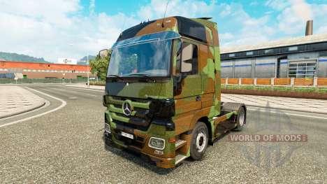 Скин Camo на тягач Mercedes-Benz для Euro Truck Simulator 2