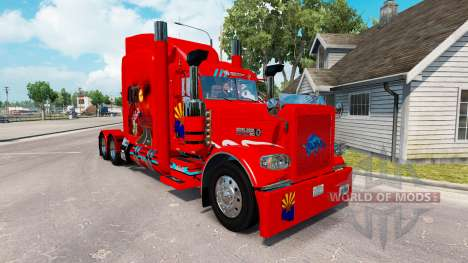 Скин Arizona USA Red на тягач Peterbilt 389 для American Truck Simulator