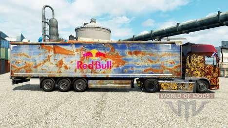 Скин Red Bull на полуприцепы для Euro Truck Simulator 2