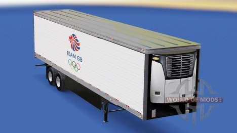 Скин Team GB на рефрижераторный полуприцеп для American Truck Simulator