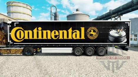 Скин Continental на полуприцепы для Euro Truck Simulator 2