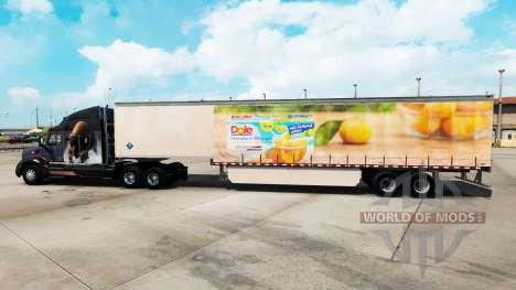 Скин Dole на шторный полуприцеп для American Truck Simulator