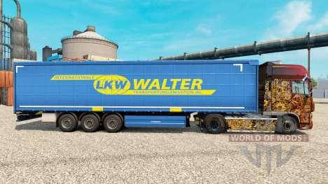 Скин LKW WALTER на полуприцепы для Euro Truck Simulator 2