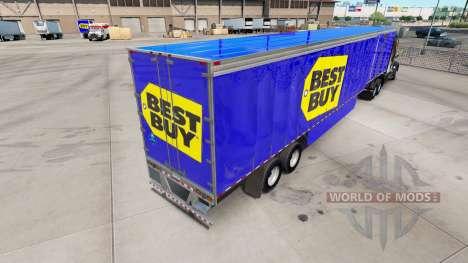 Скин Best Buy на шторный полуприцеп для American Truck Simulator