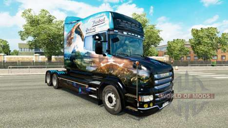Скин Grosse Freiheit на тягач Scania T для Euro Truck Simulator 2