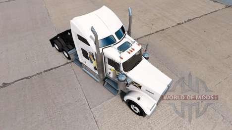 Скин Scotland на тягач Kenworth W900 для American Truck Simulator