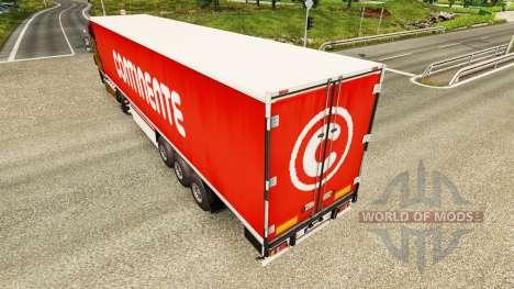 Скин Continente на полуприцепы для Euro Truck Simulator 2