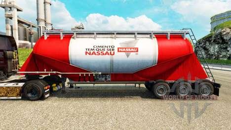Скин Nassau на цементный полуприцеп для Euro Truck Simulator 2