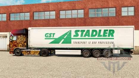 Скин GST Stadler на шторный полуприцеп для Euro Truck Simulator 2