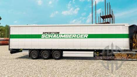 Скин Schaumberger Spedition на полуприцепы для Euro Truck Simulator 2