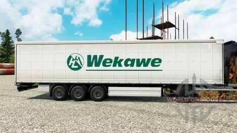 Скин Wekawe на полуприцепы для Euro Truck Simulator 2