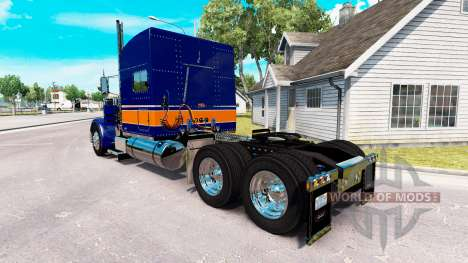 Скин Rollin Transport v1.1 на Peterbilt 389 для American Truck Simulator