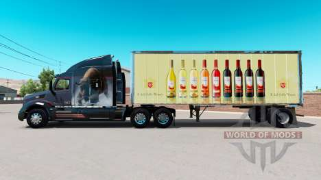 Скин E. & J. Gallo Winery на малый полуприцеп для American Truck Simulator