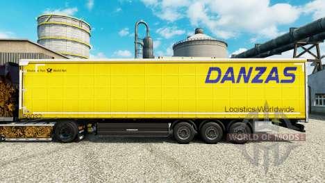 Скин Danzas Logistics на полуприцепы для Euro Truck Simulator 2