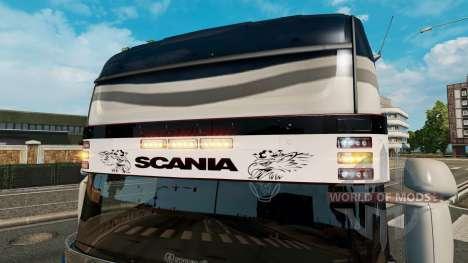 Солнцезащитный козырек Scania v2.0 для Euro Truck Simulator 2