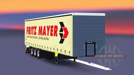 Шторный полуприцеп Schmitz Fritz Mayer для Euro Truck Simulator 2