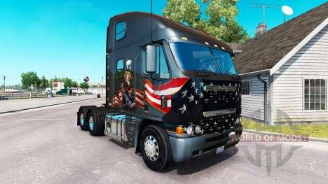 Скин Uncle Sam на тягач Freightliner Argosy для American Truck Simulator