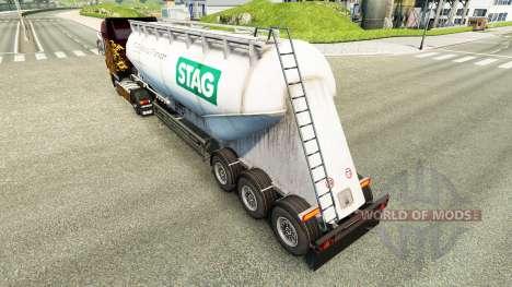Скин STAG на цементный полуприцеп для Euro Truck Simulator 2
