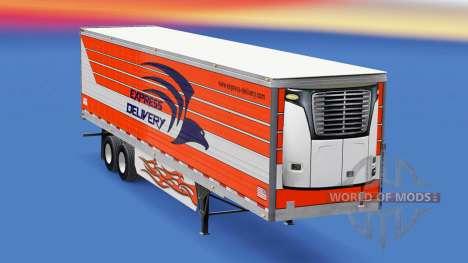 Скин Express Delivery на полуприцепы для American Truck Simulator