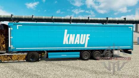 Скин Knauf на полуприцепы для Euro Truck Simulator 2