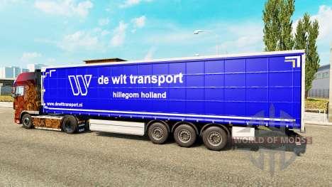 Скин De Wit Transport на полуприцепы для Euro Truck Simulator 2