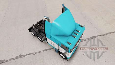 Скин Baby Blue на тягач Freightliner FLB для American Truck Simulator