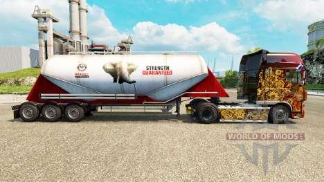 Скин PPC Ltd. на цементный полуприцеп для Euro Truck Simulator 2
