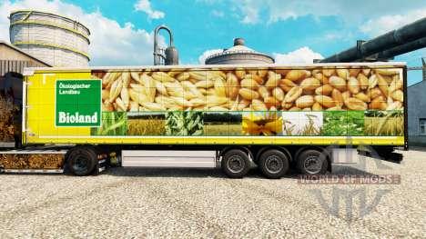 Скин Bioland на полуприцепы для Euro Truck Simulator 2