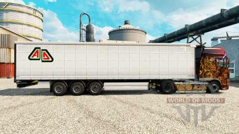 Скин Adin на полуприцепы для Euro Truck Simulator 2