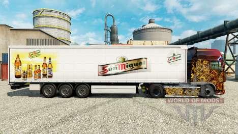 Скин San Miguel на полуприцепы для Euro Truck Simulator 2