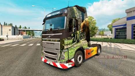 Скин Zubr на тягач Volvo для Euro Truck Simulator 2