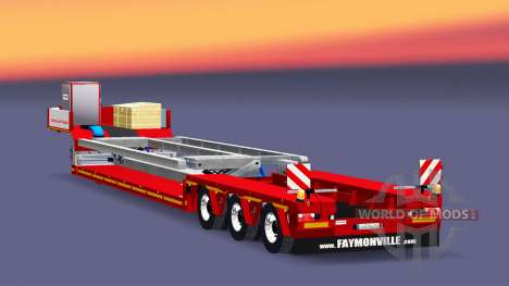 Низкорамный трал Faymonville MegaMax для Euro Truck Simulator 2